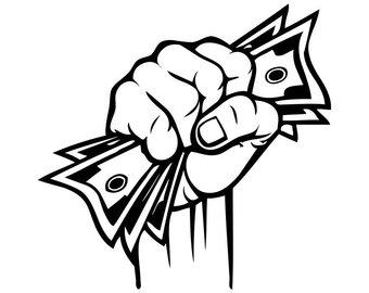 Money svg etsy hand. Cash clipart logo