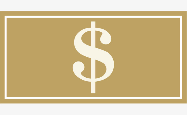 Coffee simple coin banknote. Cash clipart logo