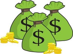coins clipart bag full money