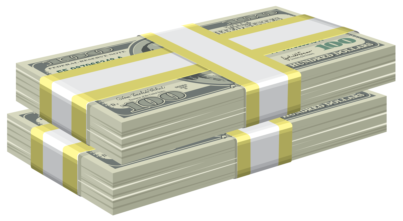 Bundles of dollars png. Clipart money paper money