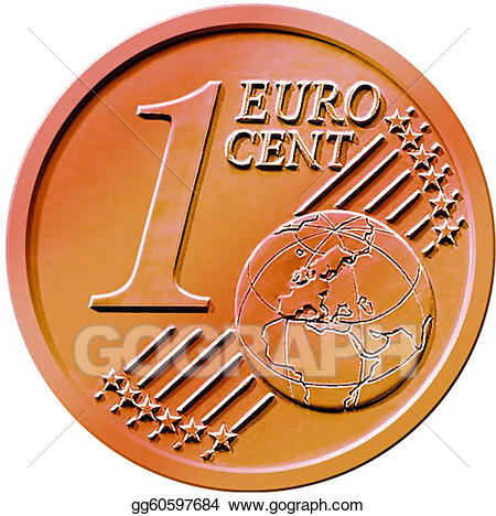 Stock illustration one cent. Cash clipart money coin