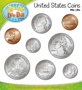 United states coins currency. Cash clipart money coin
