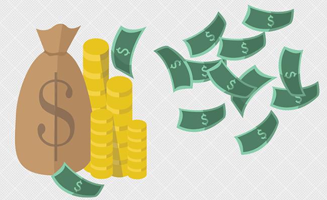 Cash clipart money coin. Bag panda free images