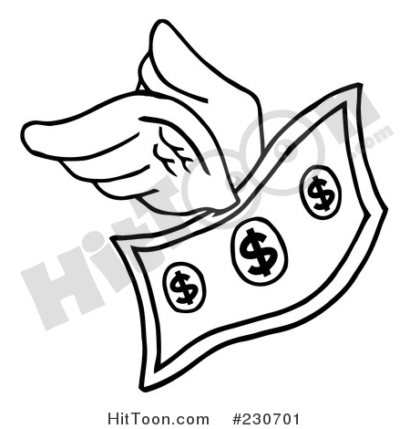 Cash clipart outline. Money coloring page of