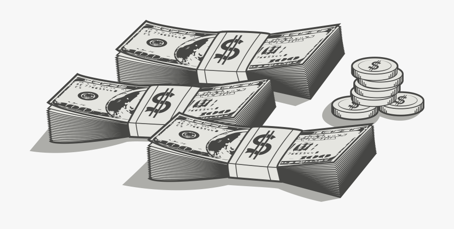 Clipart money black and white. Graphic stock