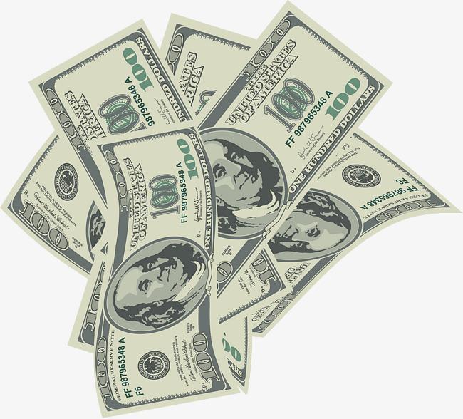A stack of bills. Cash clipart paper money