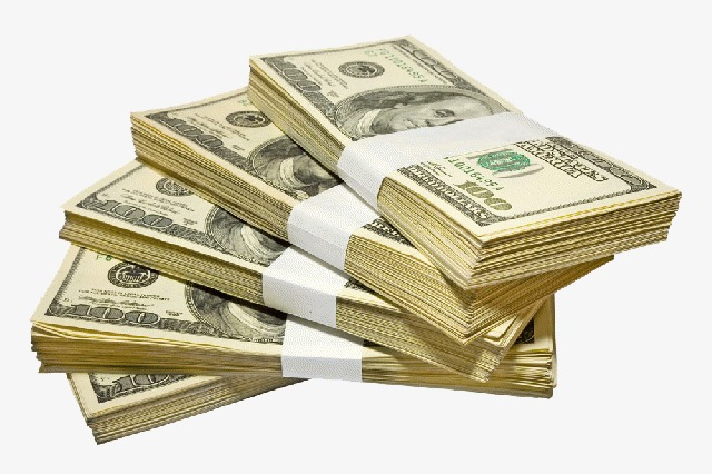 Cash clipart paper money. Dollar stack of png