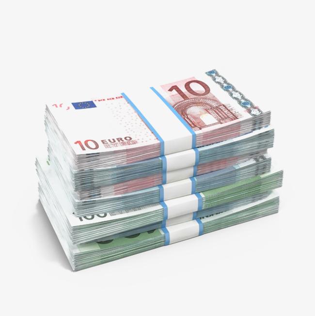 Cash clipart paper money. A pile of euro