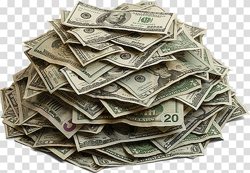 Cash clipart pile money. Of us dollar banknotes