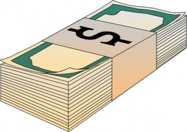 Stack kind of letters. Cash clipart pile money