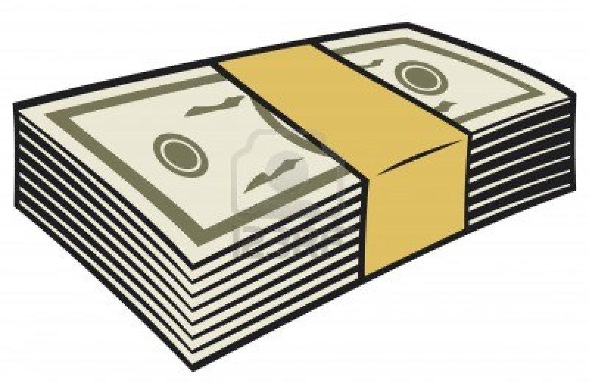 cash clipart pile money