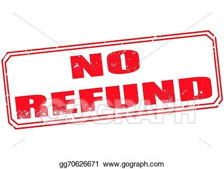 Cash clipart reimbursement. Vector illustration no refund