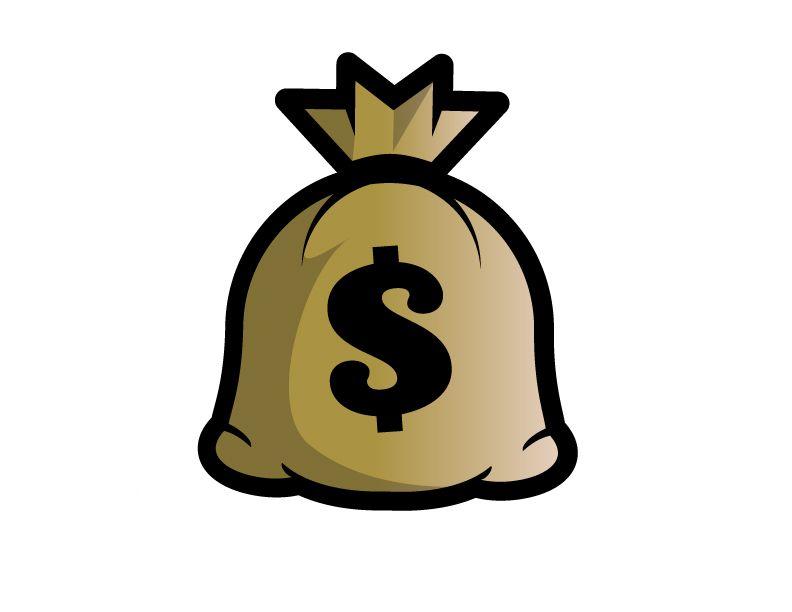 Cash clipart sack. Money bag clip art