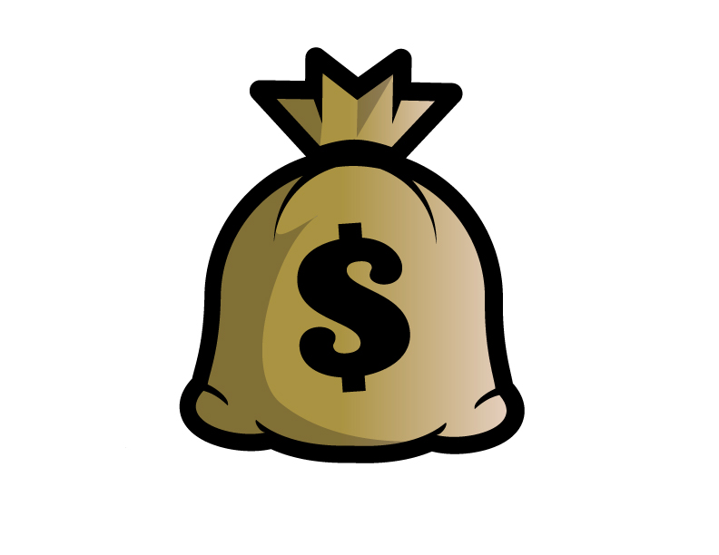 Cash clipart sack. Free picture of a