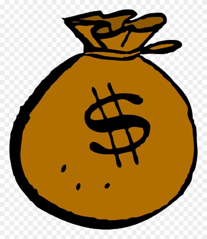 Coins transparent png sticker. Cash clipart sack