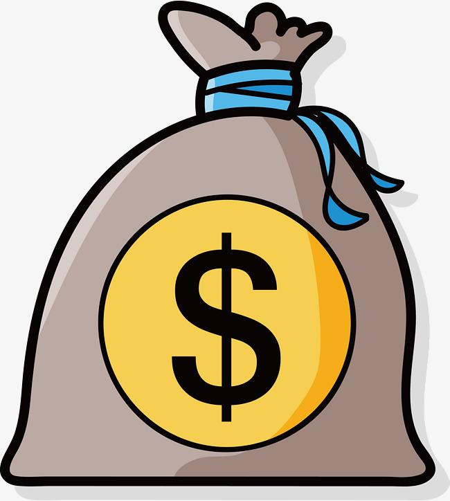 Cash clipart vector. Money bag png vectors
