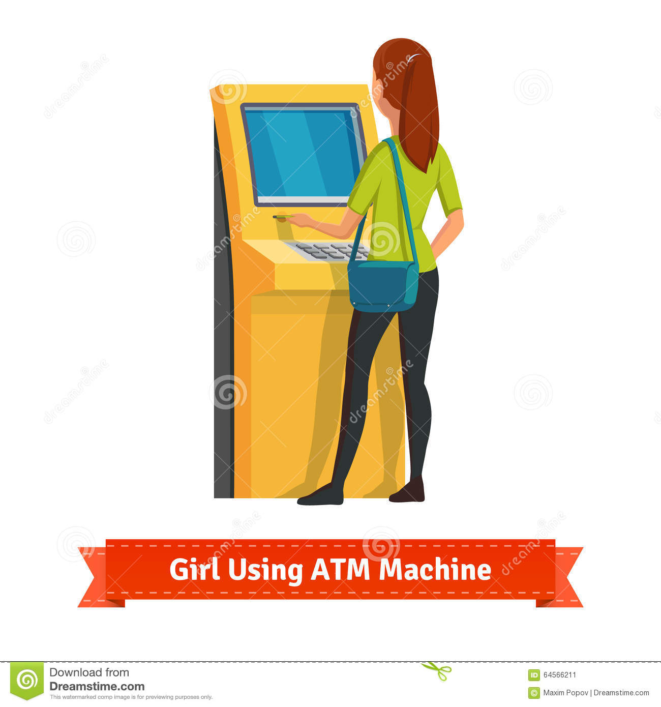 Withdraw clipground money deposit. Cash clipart vector