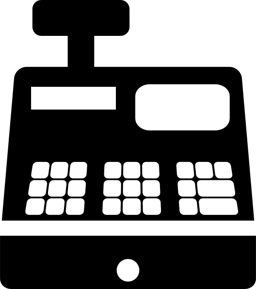 Register icon clip art. Cash clipart vector