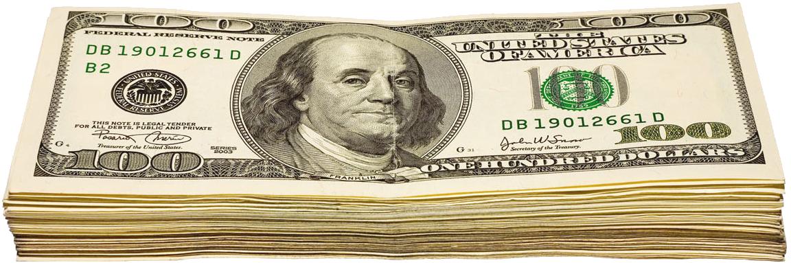 Transparent of dollars png. Cash clipart wad cash