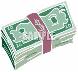 cash clipart wad cash