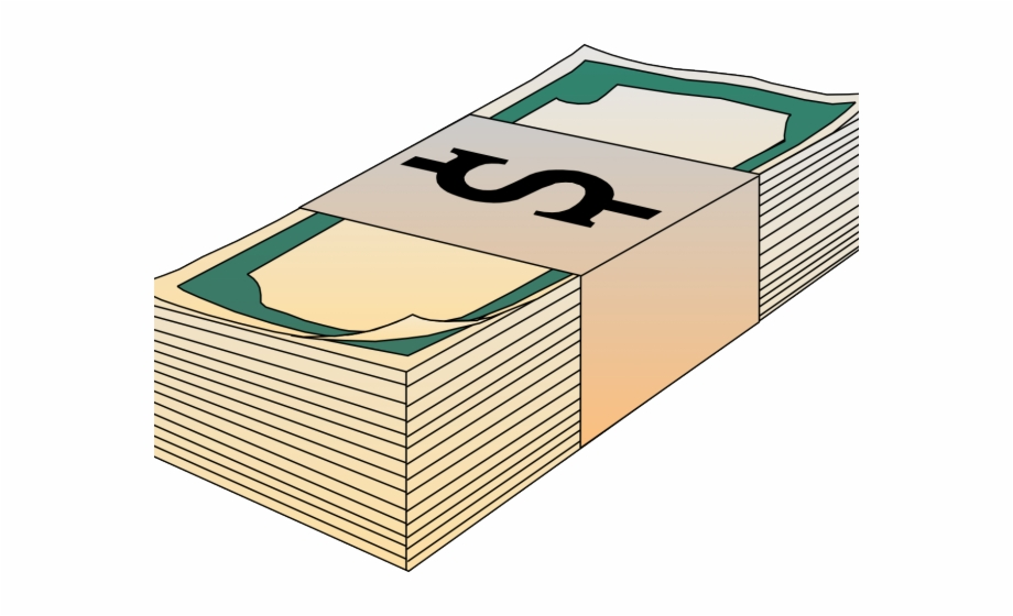 Money stack clip art. Cash clipart wad cash