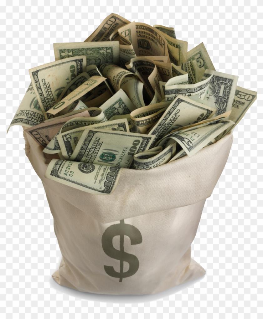 Finance clipart wad cash. Bag of money hd