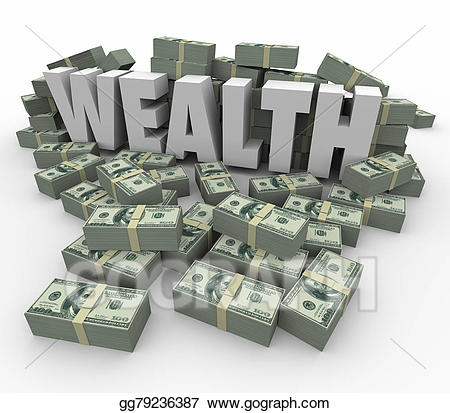 Clipart money wealth. Word stacks savings income
