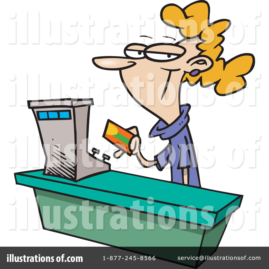 Cashier clipart. Illustration by toonaday royaltyfree