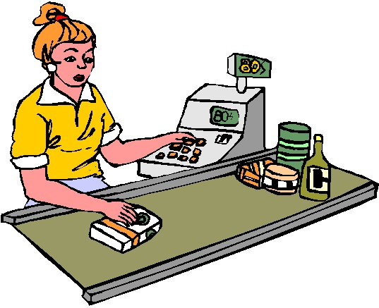 cashier clipart animated #39907769