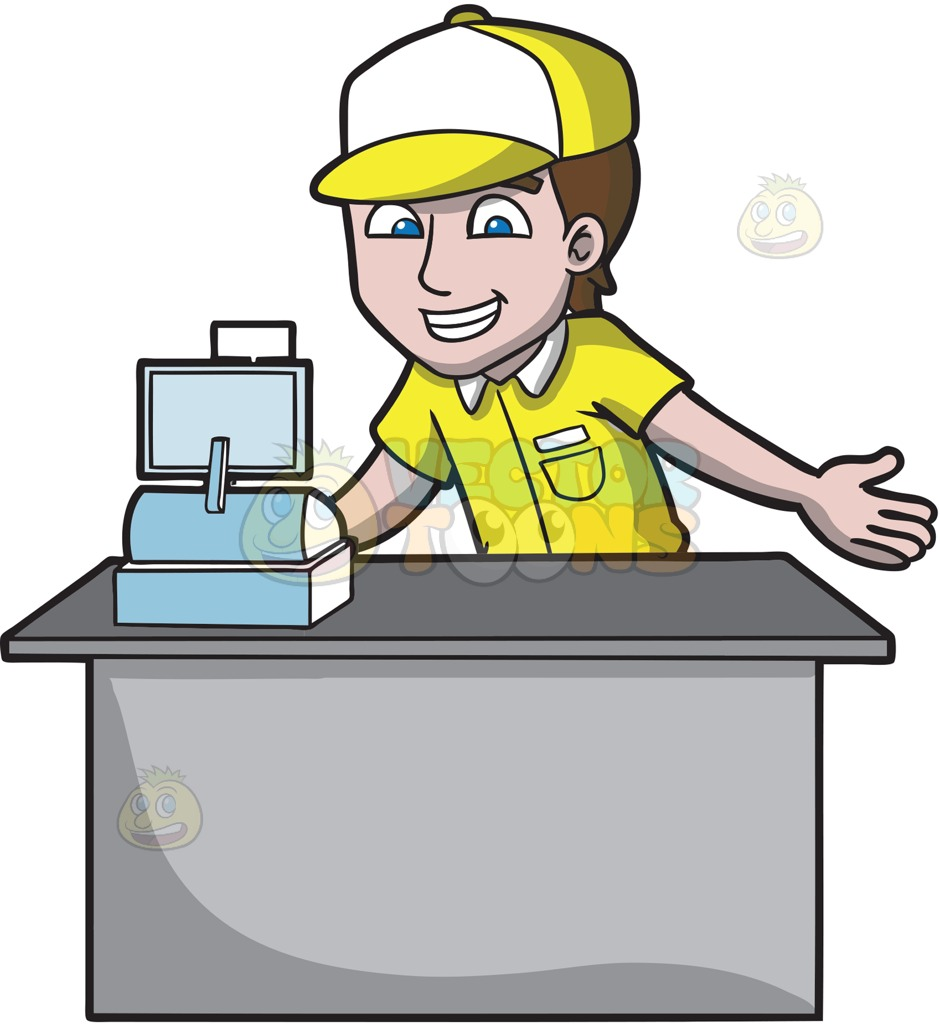 Cashier clipart animated. Free download best on