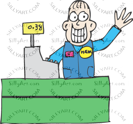 Sillyart com silly clip. Cashier clipart animated