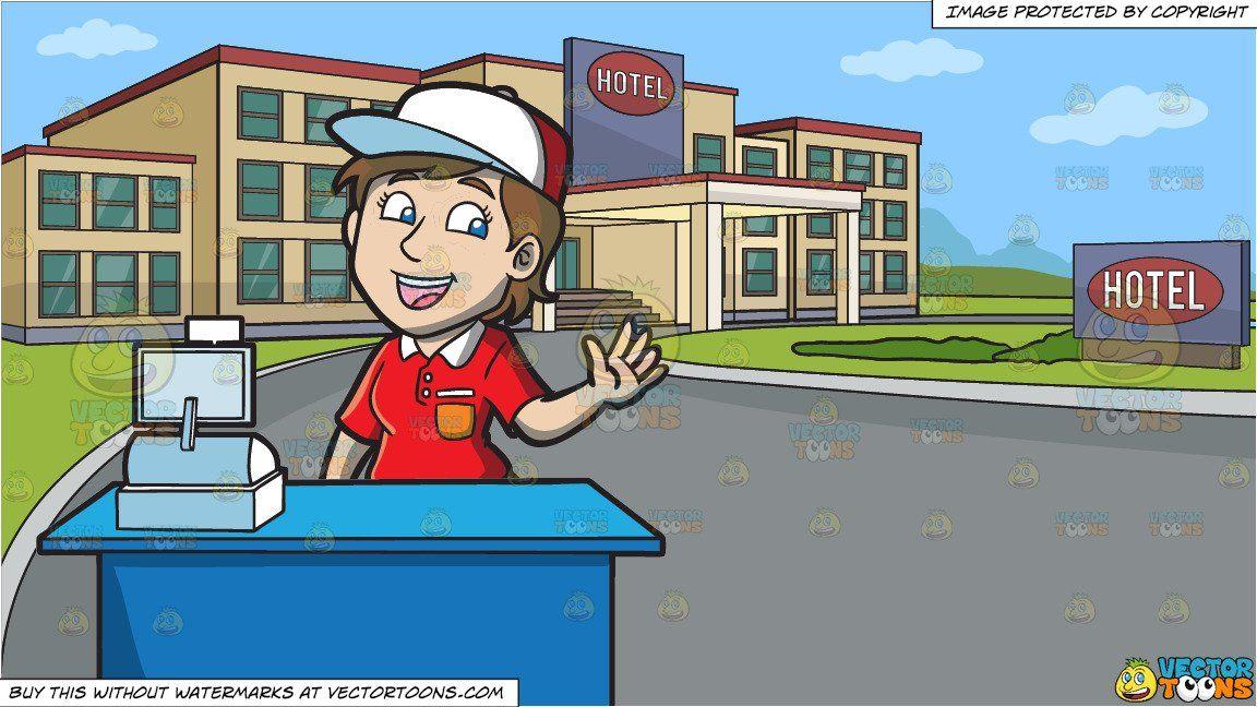 Cashier clipart animated. Cartoon a jolly female