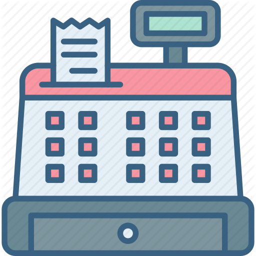 Cashier clipart billing counter. Shopping commerce filled outline