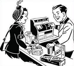 Free. Cashier clipart black and white