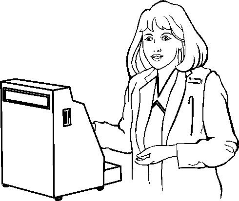 Cashier clipart black and white. Clip art pictures images