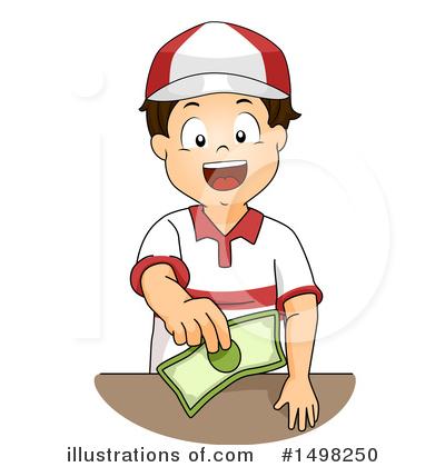 Cashier clipart boy. Illustration by bnp design
