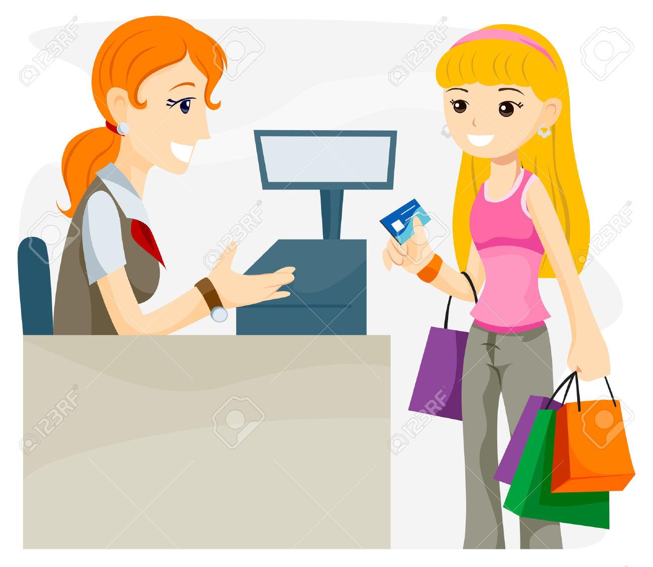 cashier clipart card payment #39947090