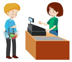 Cashier clipart cash counter. Free vector art downloads