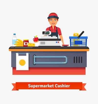 Cashier clipart cash payment. Supermarket register bill png
