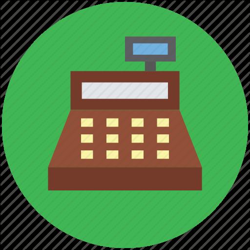 Register icon money product. Cashier clipart cash payment