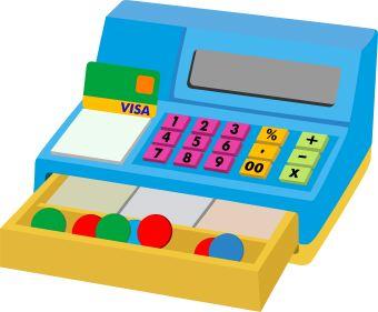 Pictures clip art library. Cashier clipart cash register
