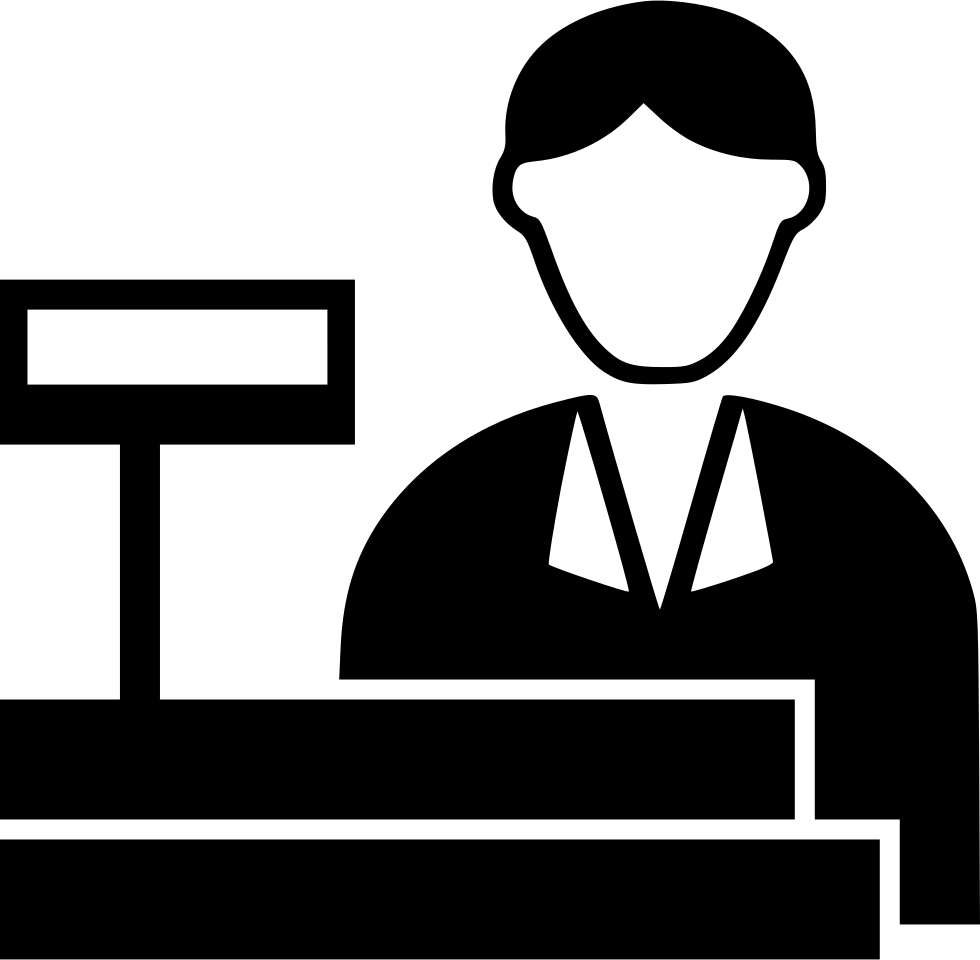 Cashier svg png free. Maid clipart icon