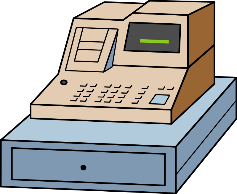 Cashier clipart casher. Picture