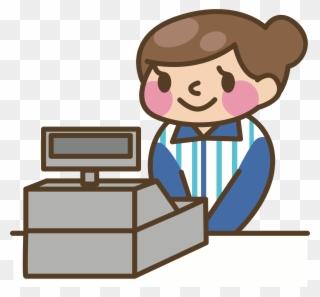 Cashier clipart casher. Clip art png download