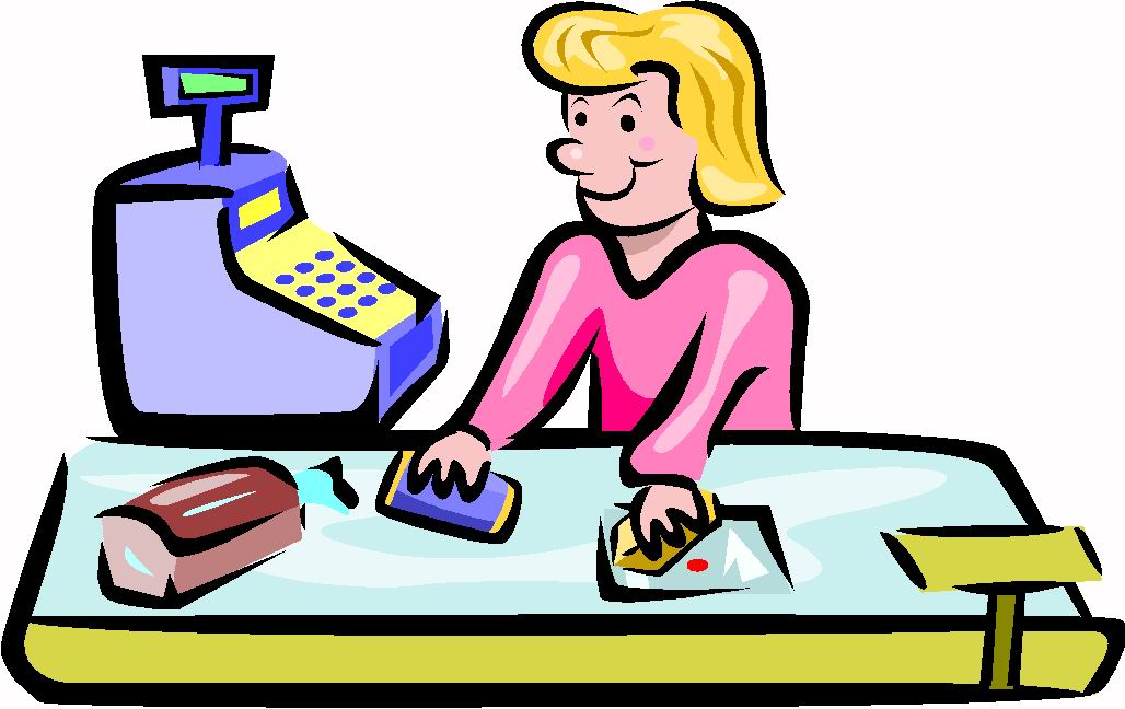 Cashier clipart cashier customer.  cashiers animated images