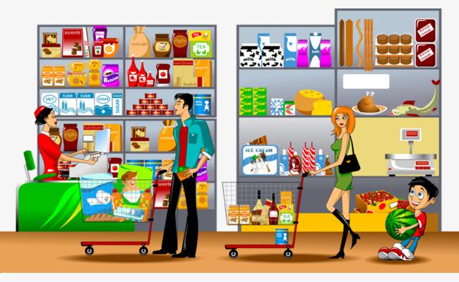 Cashier clipart cashier supermarket. Checkout line child food