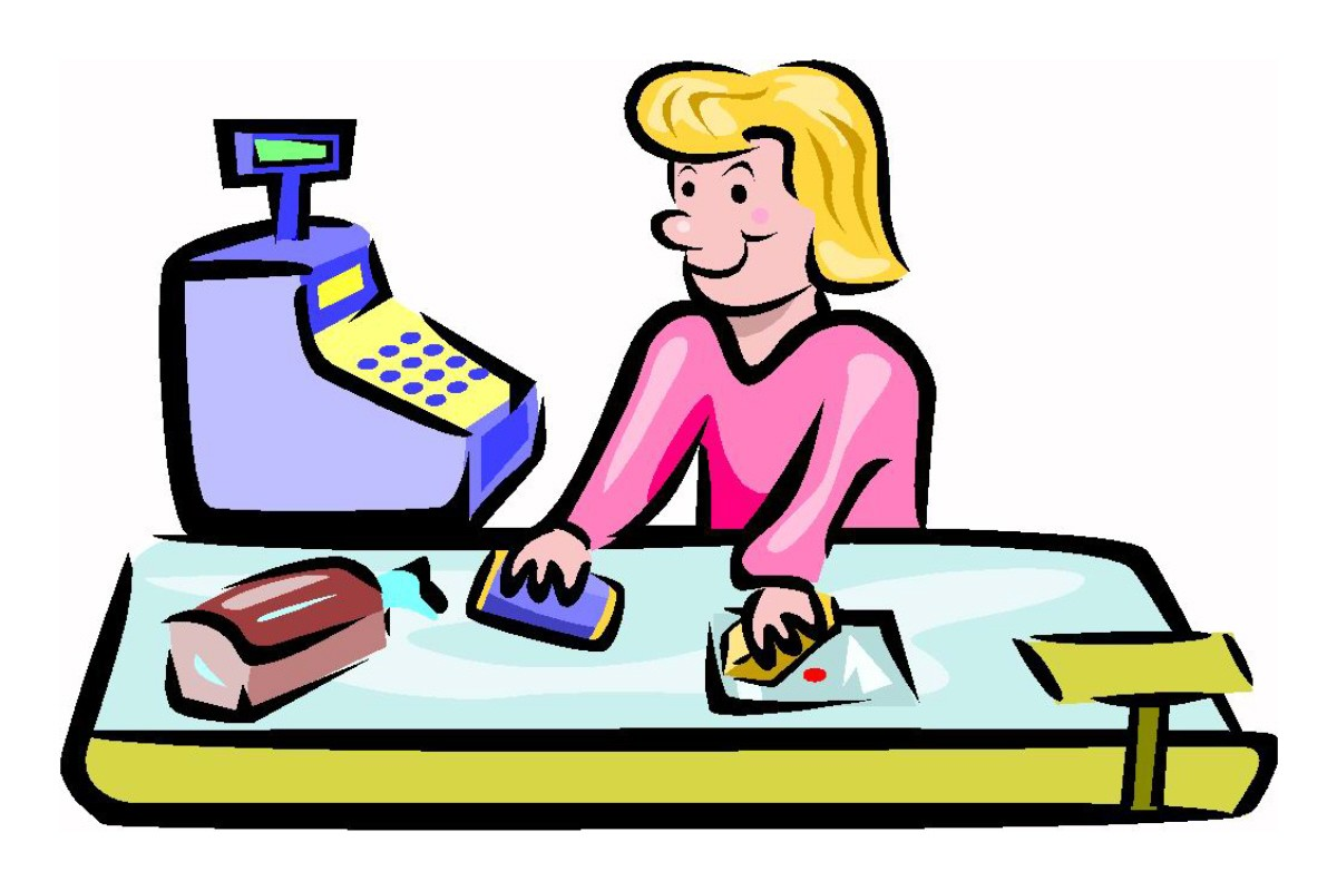 Cashier clipart cashier supermarket.  voices from russia