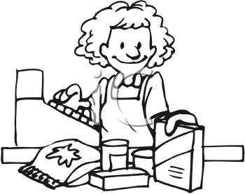 Cashier clipart checkout. Occupations panda free images