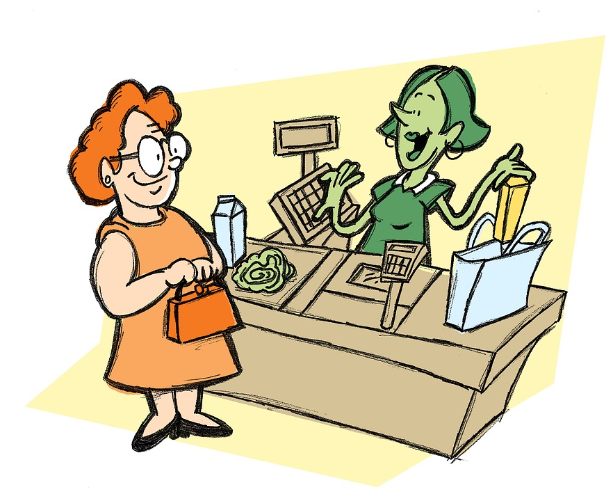 Time to adventures of. Cashier clipart checkout