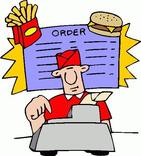 Clipart restaurant restaurant worker. Free fast food cliparts